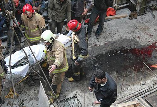 مرگ دلخراش کارگر پس ازسقوط از برج
