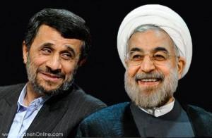 مکالمه تلفنی روحانی و احمدینژاد (طنز)