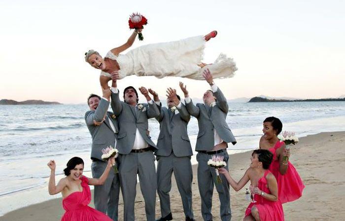 عروس و داماد و لحظه های طنز در روز عروسی