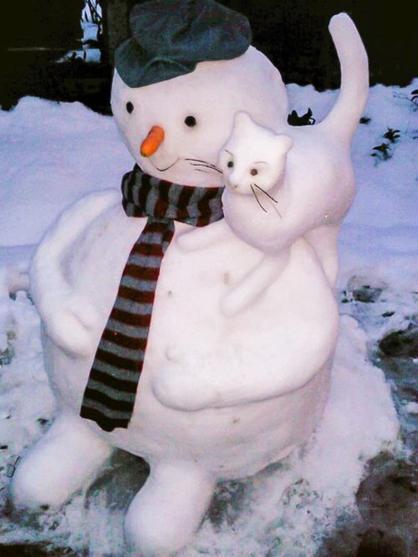 عکس های از آدم برفی های بامزه