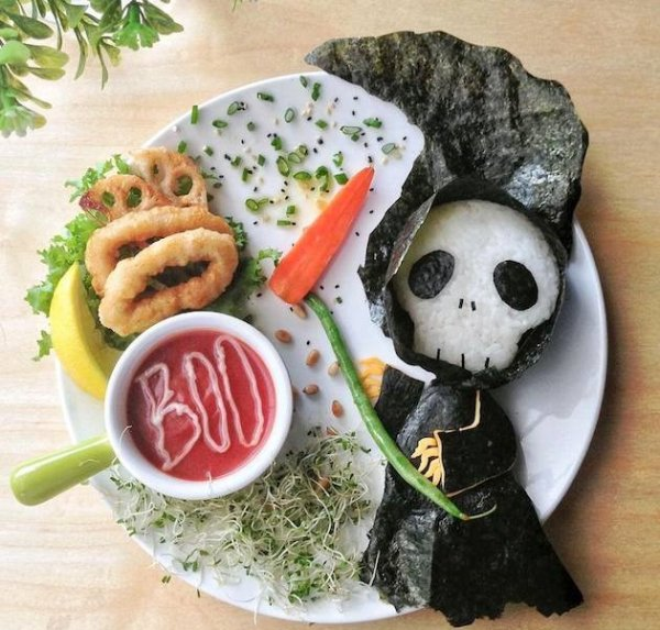 هنر غذا آرایی یک مادر برای ترغیب فرزندش به خوردن غذا