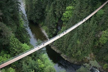 بلند ترین پل معلق جهان برروی رودخانه کاپیلانو