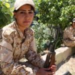 دختران کرد آماده نبرد با داعش
