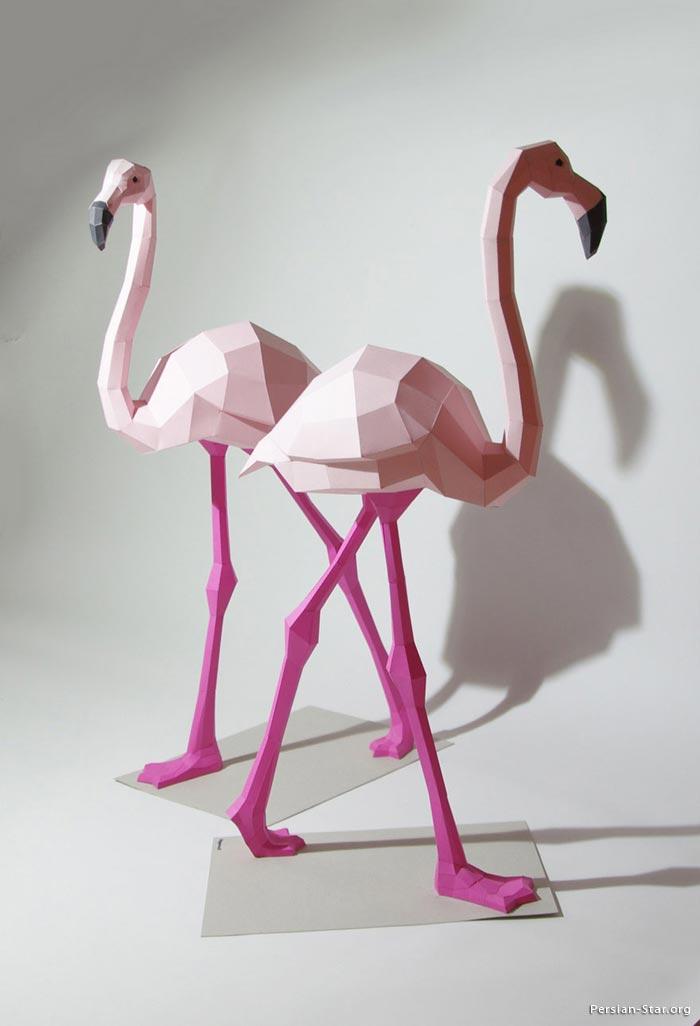 مجسمه های هندسی شگفت انگیز و زیبا از حیوانات