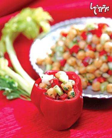 طرز تهیه دلمه نخود و سبزیجات