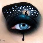 پلک چشم و طراحی های زیبا روی آن