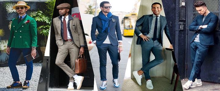 اصول ست کردن کفش کتانی با لباسهای رسمی مردانه