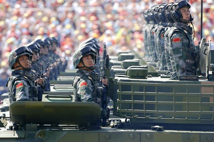 رژه ارتش چین در سالگرد پایان جنگ جهانی دوم