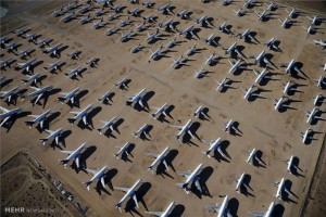 گورستان هواپیماهای فرسوده در آمریکا