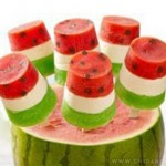 طرز تهیه دسر یخی هندوانهای