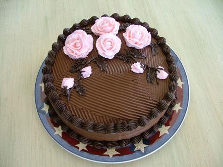 تزئین کیک شکلاتی خانگی