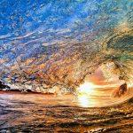 امواج دریا در اوج شکوه و زیبایی