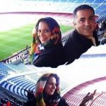 عکسی از روشنک عجمیان در ورزشگاه بارسلونا