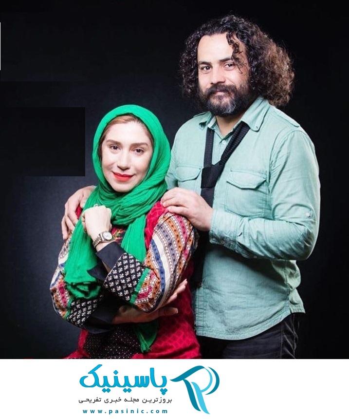 عکسی از نسیم ادبی به همراه همسرش