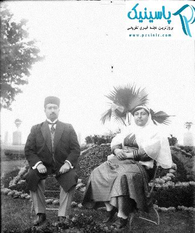 محمدعلی شاه و همسرش در تبعید