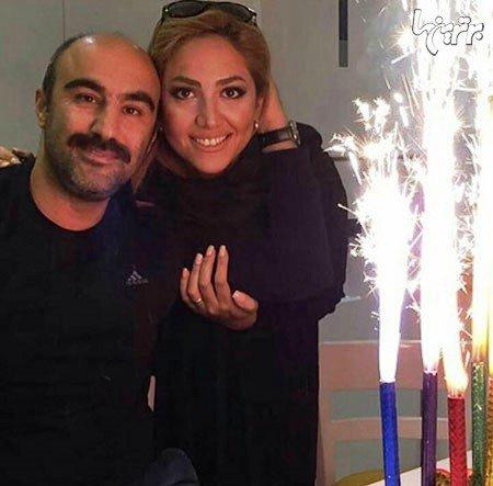 عکسی از جشن تولد محسن تنابنده در کنار همسرش