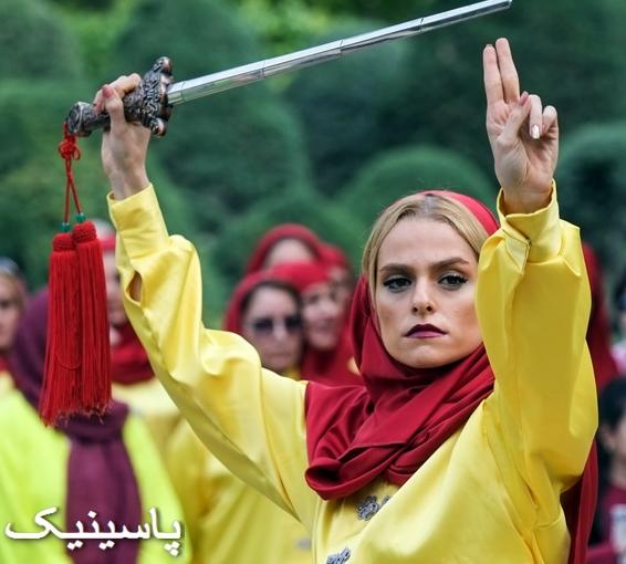 تصاویری از حضور دختران تای چی کار در تهران