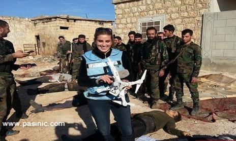 تصاویر جدید کنانه علوش با اجساد داعشی ها