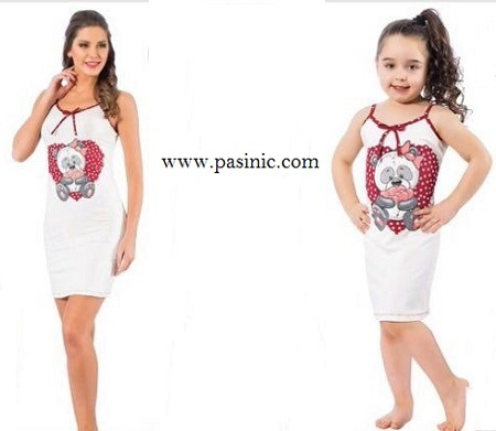 لباس راحتي مادر و دختر