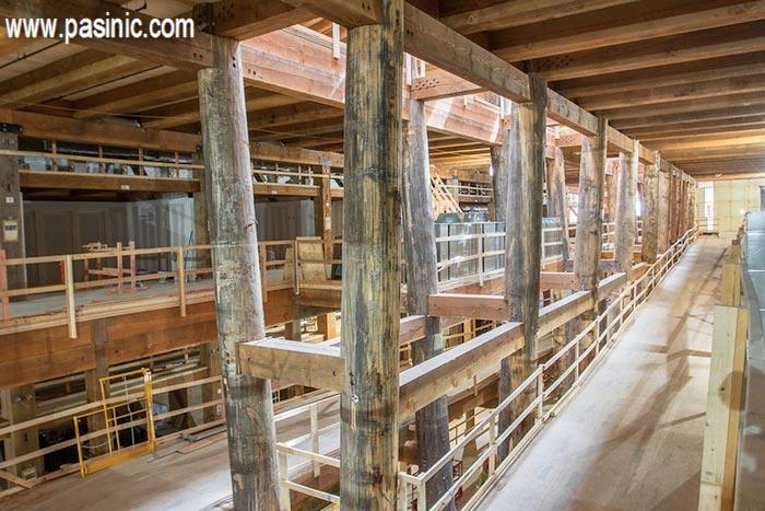 گزارش تصویری از مراحل ساخت کشتی نوح
