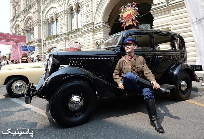 رژه اتومبیلهای کلاسیک در روسیه