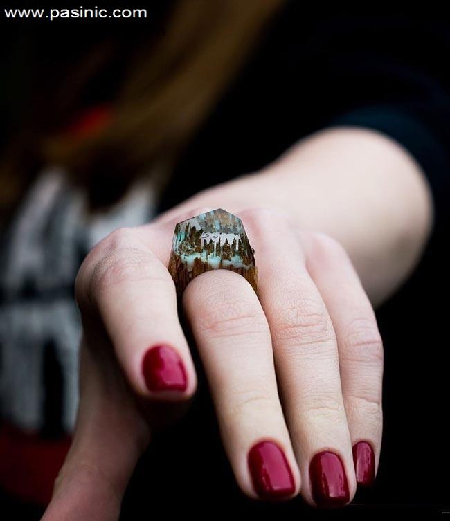 انگشتر های زیبا با طرح های مینیاتوری