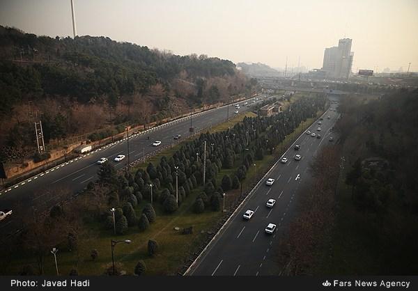 آلودگی هوای پایتخت به روایت تصویر