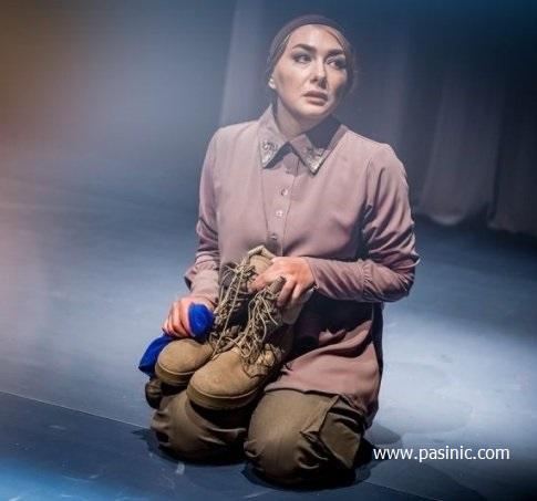 چهره هانیه توسلی در نقش همسر یک سرباز آمریکایی