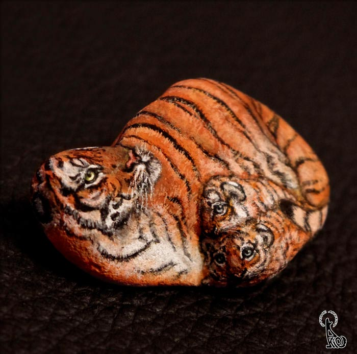 هنرنمایی های شگفت انگیز با نقاشی روی قلوه سنگ