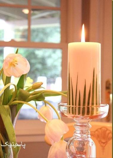 آموزش تزئين شمع سفره هفت سين