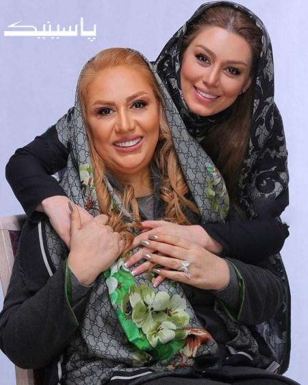 جدید ترین عکس سحر قریشی و مادرش در سال ۹۶