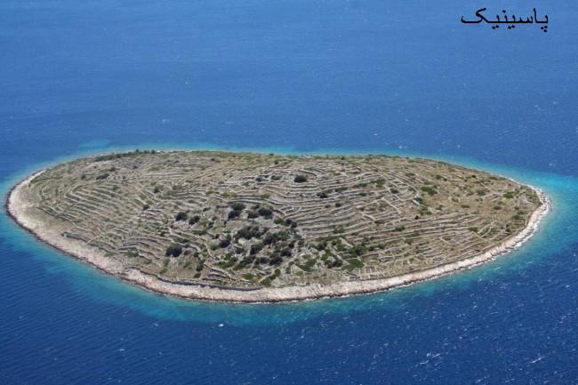 جزیره کرواتی جزیره ای تماشایی شبیه به یک اثر انگشت
