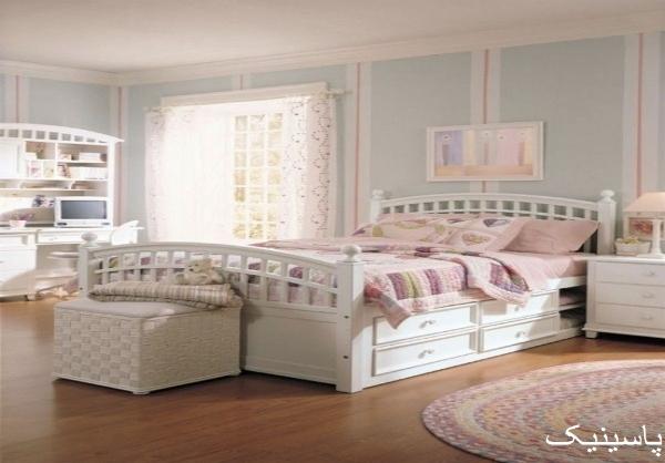 دکوراسیون اتاق خواب دخترانه جوان جدید
