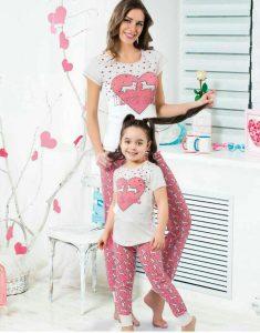 ست لباس راحتی مادر و دختر