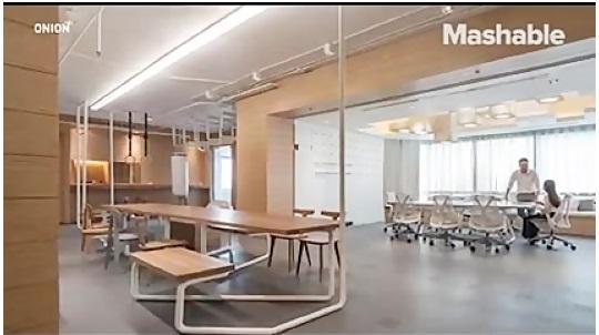 دفتر کار مدرن که همزمان به اتاق ورزش بدل می شود