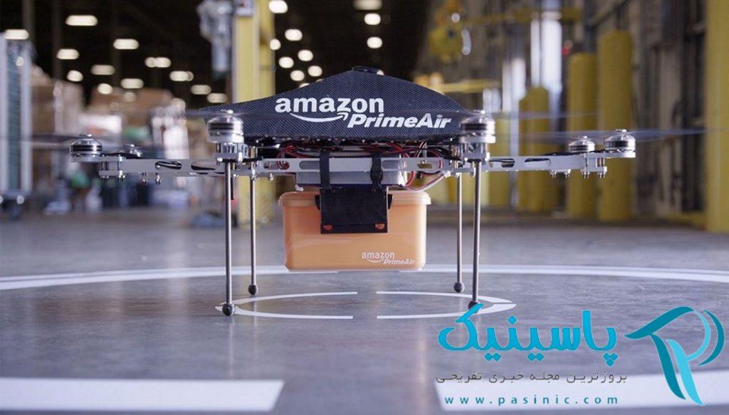 آمازون از پهباد برای ارائه خدمات به مشتریان خود استفاده میکند.