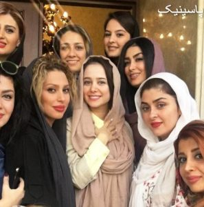 بازیگران زن ایرانی درمراسم افتتاحیه یک سالن زیبایی در مشهد