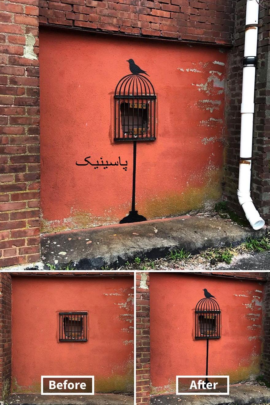 نقاشی های گرافیتی زیبا روی دیوار