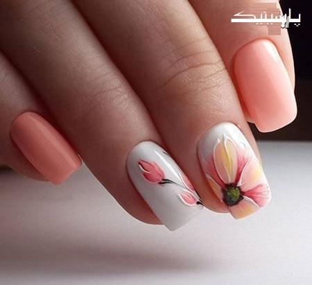 مدل طراحی ناخن گلدار ویژه تابستان