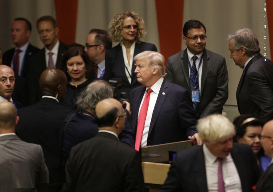 تصاویراولین حضور ترامپ در سازمان ملل