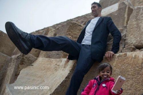 ملاقات شگفتانگیز قدبلندترین مرد جهان با کوتاهترین زن دنیا