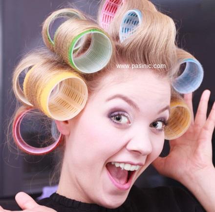 آموزش فر كردن مو با بیگودی و طریقه بستن موها
