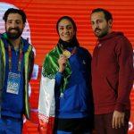 سپیده توکلی بانوی طلایی دوومیدانی ایران در مسابقات قهرمانی داخل سالن آسیا