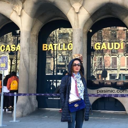 عکس های جدید بهاره افشاری در شهر بارسلون اسپانیا