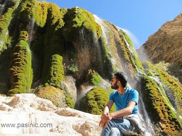 آبشار پونه زار یکی از جاهای دیدنی فریدن اصفهان