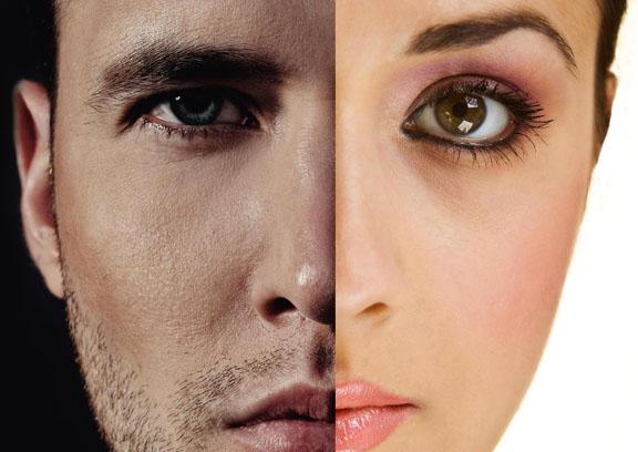 تفاوت پوست زنان و مردان